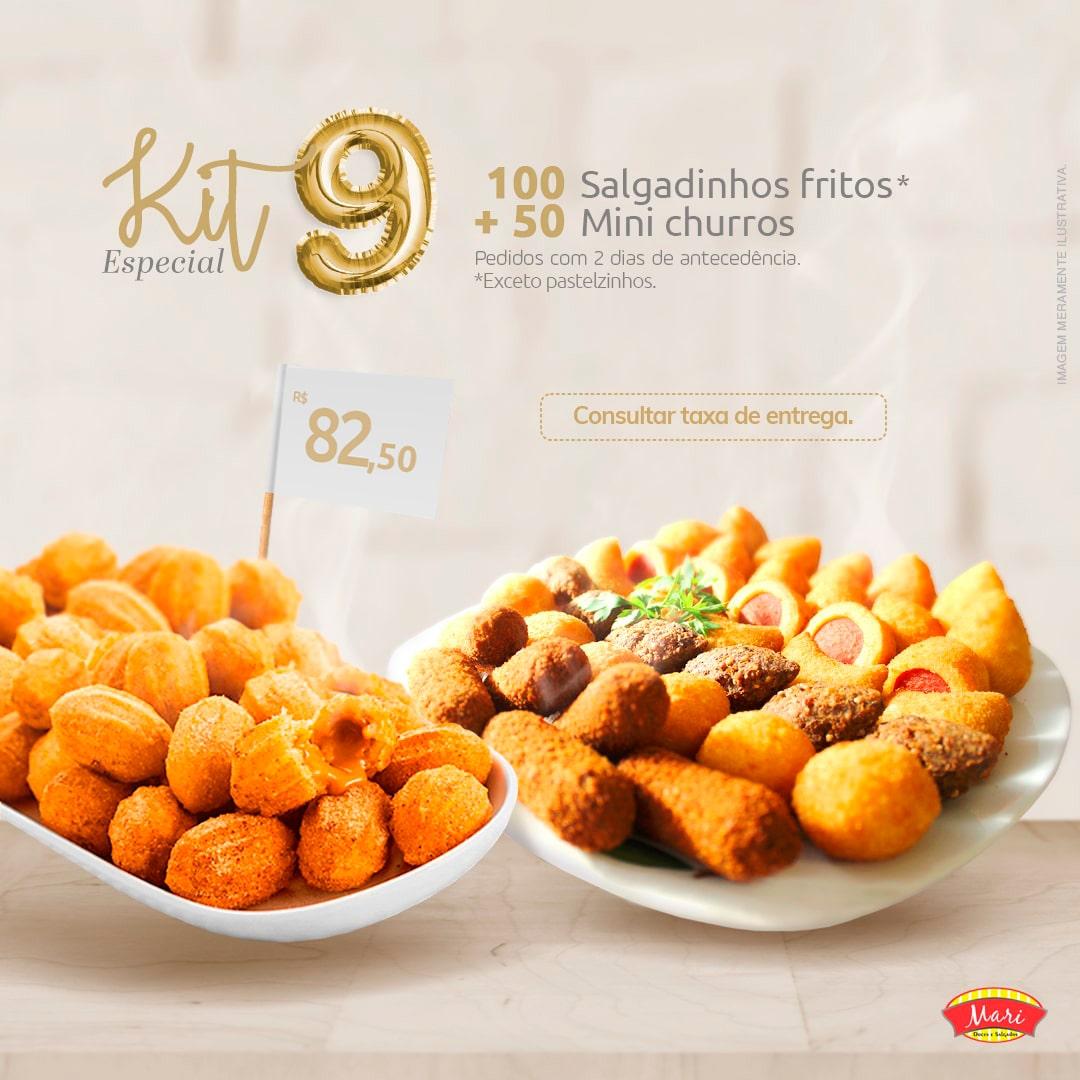 100 Salgadinhos fritos + 50 Mini churros